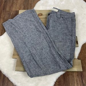 Daughters of The Liberation Gray Linen Blend Pants